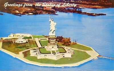 The Statue Of Liberty On Liberty Island New York City NY 1966 Vintage Postcard