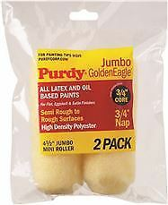Purdy Golden Eagle Jumbo Mini Roller Replacements, 4-1/2 In., 3/4 In. Nap, 2 Pac