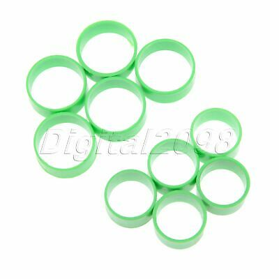 50 Pcs Green Big/Small Poultry Leg Rings for Birds Hens Ducks Small/Big Size