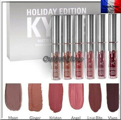 Kylie Jenner Lipstick Holiday Edition Coffret Mat Gloss Rouge A Levre 6 Couleurs