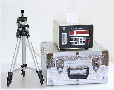 Portable LED Display Laser Dust Particle Counter With Printing Function b