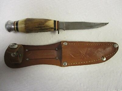 Stag Handle Knife Solingen Germany G C Co 491 Edge Brand With Sheath