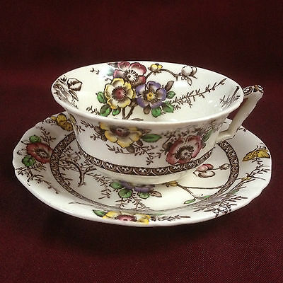 Antique Alfred Meakin, Medway Decor, England, Cup & Saucer (pre-1940?)