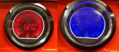 60MM EVO CAR Exhaust Gas Temperature Gauge Red and Blue LCD Digital Display