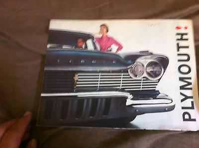 1957 Plymouth Fury Plaza Savoy Color  Brochure Catalog Prospekt