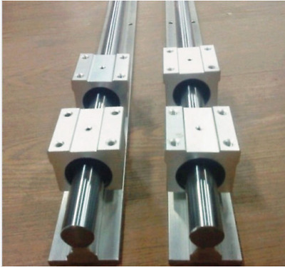 SBR20-2500mm LINEAR SLIDE GUIDE SHAFT 2 RAIL+4SBR20UU BEARING BLOCK CNC  b
