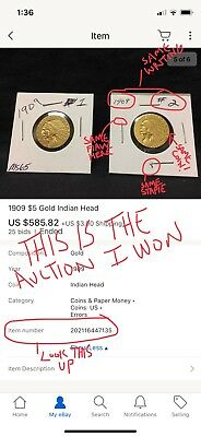 This Is How I Got Screwed Out Of My Coins As A Buyer 1909-D $5 Gold Indian Head