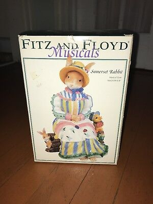 "Fitz And Floyd Musicals Ceramic Somerset Rabbit Figurine ""Mother"" w/Box"