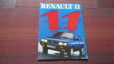 1984 Renault 11 Sales Brochure From France.