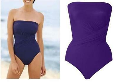 Miraclesuit Bandeau Miracle Swim Suit Strapless Bathing Swimming Costume Cossie