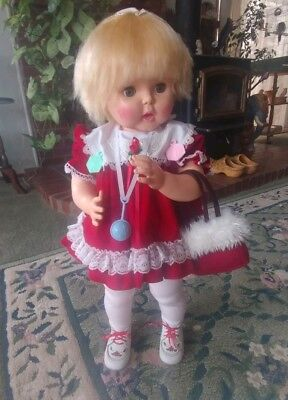 Vintage Horsman Doll Thirsty Walker 1960,s 27 Inch Comes With 2 Outfts