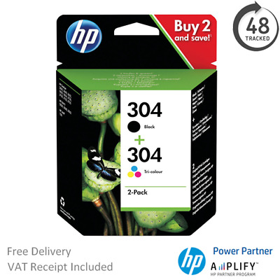 HP Envy 5030 Ink Cartridges - Black & Tri-Colour - HP 304 Original Ink