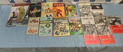Lot of Boy Scout books, cub tiger bear, and badge books VTG and new (15)
