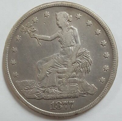 1877 United States Silver Trade Dollar