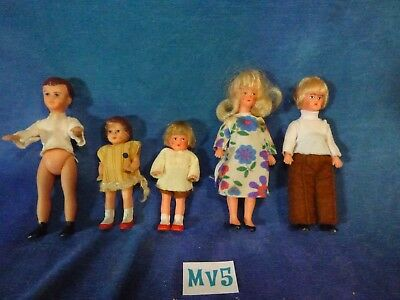 Vintage Antique Doll House Dollhouse Lot: Germany Family of Five MV5
