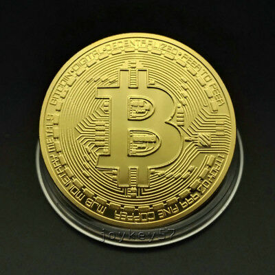 HOT Bitcoin Commemorative Coins Golden Bit Coin Gold Plated Coins Collectors BTC