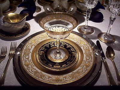 6 Minton Thick Raised Gold Encrusted Plates For Collamore, New York  10 1/4""