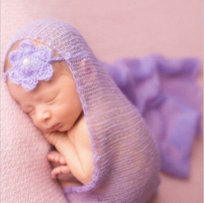 Newborn Photography Wrap cloth Baby Photography Modeling Props Navy blue