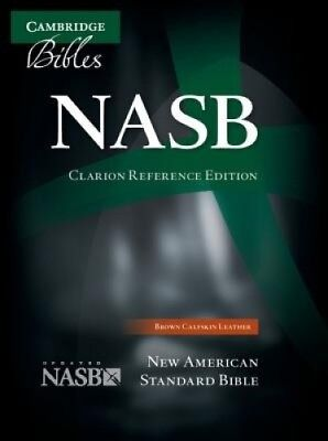 NASB Clarion Reference Bible NS485:X Brown Calfskin Leather by Cambridge Bibles