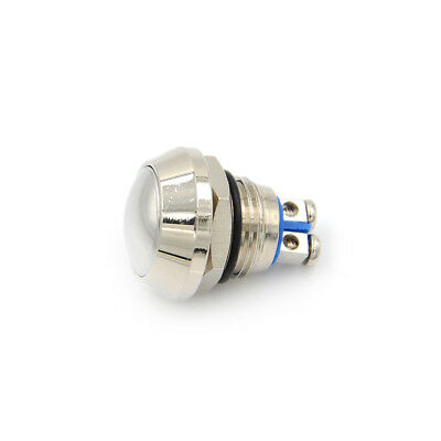 1X Hot ! Domed Waterproof Metal 12mm Momentary Push Button Switch St