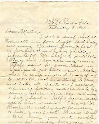Theodore Roosevelt ???, Arthur / An Autographed Letter Signed