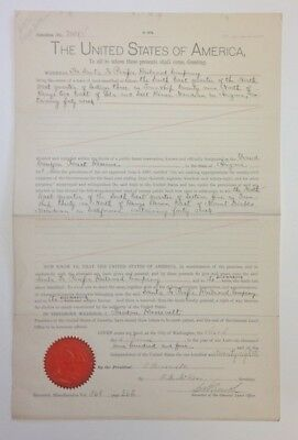 Theodore Roosevelt Document Signed With A Secretarial Signature U S 1904  Signed