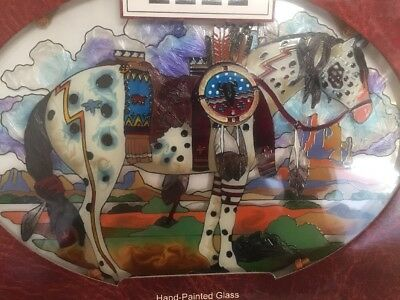 "Trail Of Painted Ponies ""war Pony"" Suncatcher Hand-Painted Appaloosa Horse Nib"