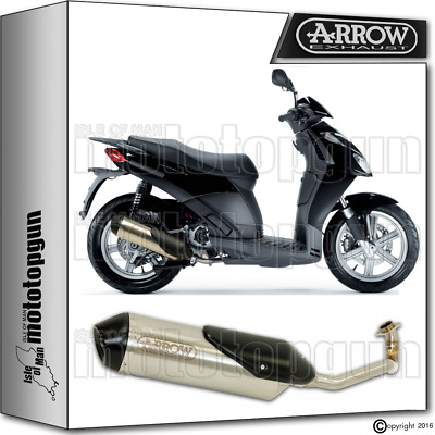 Arrow Full Exhaust System Reflex-2 Chrom Hom Aprilia Sport-City 125 2007 07