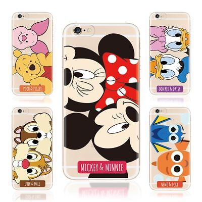 Disney Character Mickey Minnie Mouse Nemo Dory Cover Case For iPhone X 8 7 6s SE