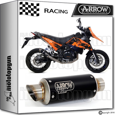 Arrow Muffler Gp-2 Stainless Steel Dark Race Ktm 690 Sm 2006 06 2007 07 2008 08