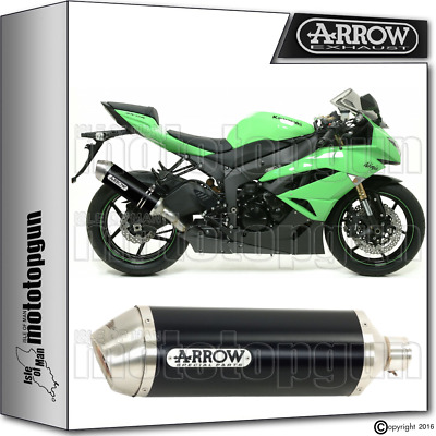 Arrow Muffler Race-Tech Aluminium Dark Hom Kawasaki Zx6R 2012 12 2013 13 2014 14