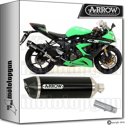 Arrow Kit Muffler Racetech Dark Carby Cup Hom Kawasaki Zx-6R 636 2013 13 2014 14