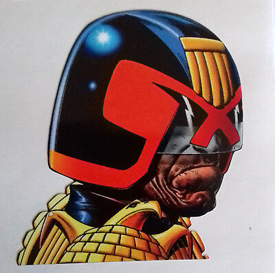 Judge Dredd Head Sticker from the pages of 2000AD Comic and JD Megazines