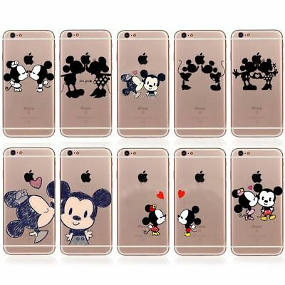 Disney Character Mickey Minnie Mouse Love Couple Cover For iPhone X 8 7 6s SE