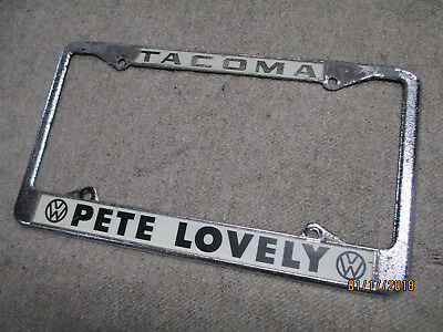 Volkswagen Vw Pete Lovely Dealer License Plate Frame Bug Bettle Ghia T-3 Bus