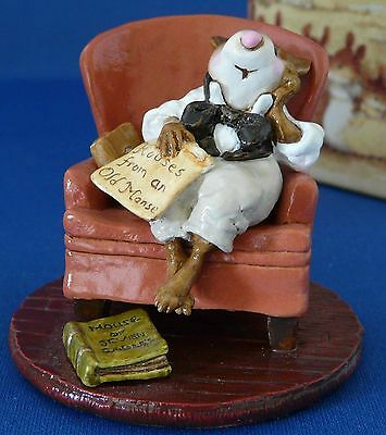 WEE FOREST FOLK NATHANIEL HAWTHORNE LIMITED EDITION PIECE, The Old Manse #25/200