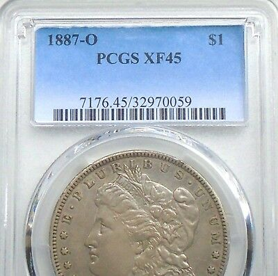 1887-O Morgan PCGS XF45: better date, w0wza toned original~unique & ships free