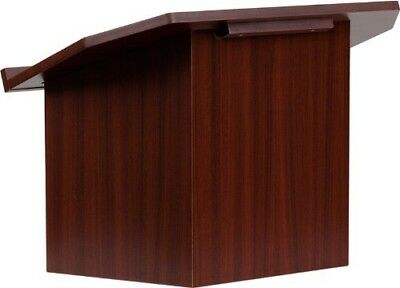 Flash Furniture M8833 Foldable Tabletop Lectern Desk in Mahogany MINOR SCRATCH