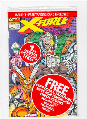 X-Force #1 (1991) Polybagged with Cable Card Sealed  1991