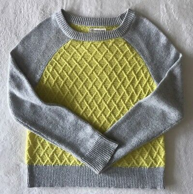 Tucker Tate Sweater Big Girl Sz: L 10/12 Yellow/Grey