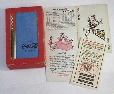 Authentic Vintage COCA COLA PLAYING CARDS WHEAT DESIGN w/EXTRA JOKER