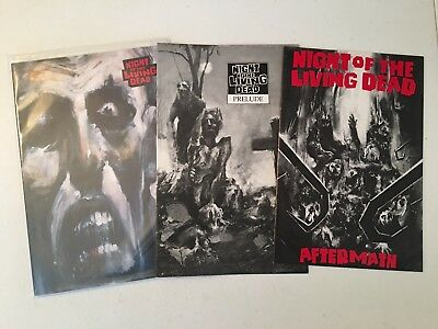 Night Of The Living Dead Comics Lot! #1,prelude,aftermath! Fantaco!