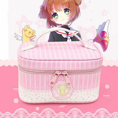 Card Captor Sakura CardCaptor Sakura Make Up Bag Storage Lunch Box Case Pink