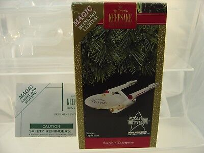 1991 Hallmark Star Trek BOX Insert & Papers ONLY -  NO Starship Included READ