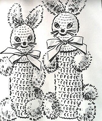 P-268 Vintage BUNNY BOTTLE COVERS Pattern to Crochet (Reproduction)