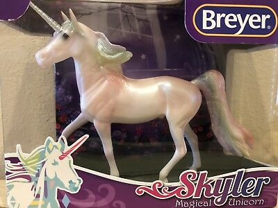 Breyer Skyler Magical Unicorn Rainbow Glitter Classic Morgan # 97258 NIB New SR