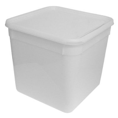 10 Litre Rectangular Ice Cream Tubs With Lids / Kitchen Food Storage Containers