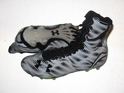 new mens/youth 6.5 under armour highlight MC molded lacrosse cleat 1258400-black