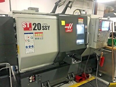 2016 Haas ST 20ssy w/ VIDEO Live Tooling, C-Axis, Chip Conveyor, Parts Catcher