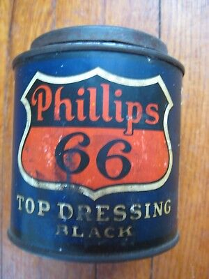 Phillips 66 top dressing Can Oil Gas Black 1 pint